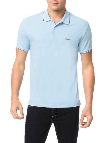 Polo-Calvin-Klein-Slim-Basica-Com-Logo-No-Peito-Azul-Claro