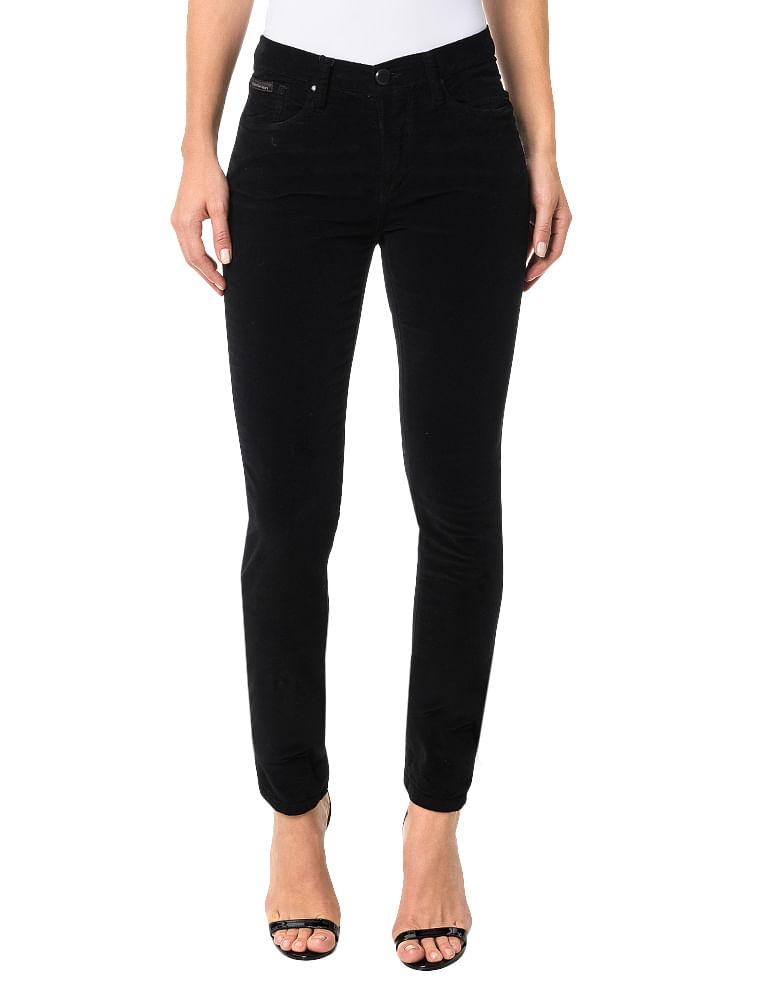 Calça Color Calvin Klein Jeans Five Pockets Jegging High Preto ... 5a9a9708af
