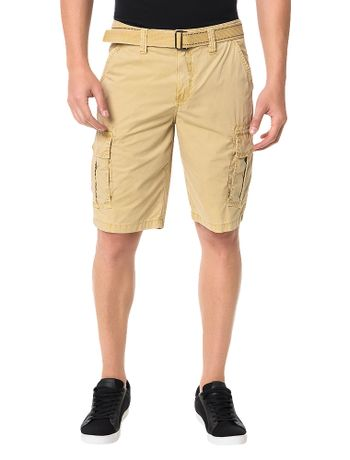 Bermuda-Color-Calvin-Klein-Jeans-Com-Cinto-De-Cadarco-Caqui-Claro