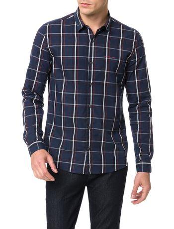 Camisa-Calvin-Klein-Jeans-Xadrez-America-Marinho