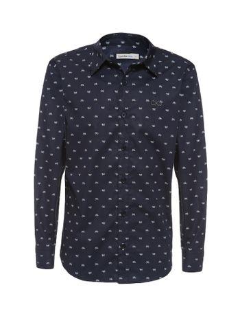Camisa-Infantil-Calvin-Klein-Jeans-Estampa-Bicicletas-Marinho