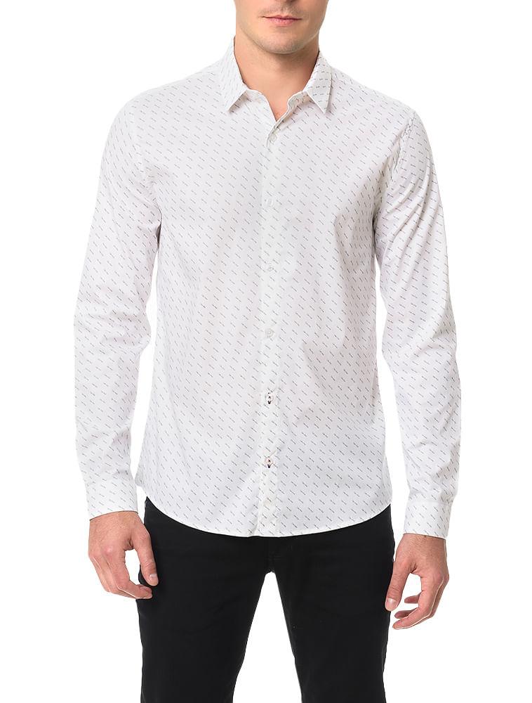 46918fe4b2fc3 Camisa Calvin Klein Jeans Calvin All Over Branco - Calvin Klein