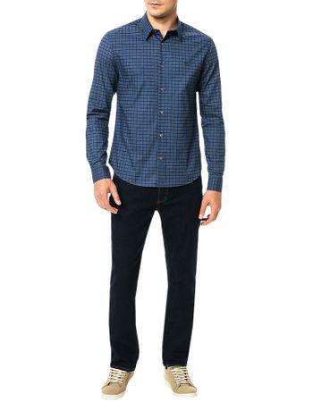 Camisa-Slim-Calvin-Klein-Geneva-Xadrez-Maquinetado-Marinho