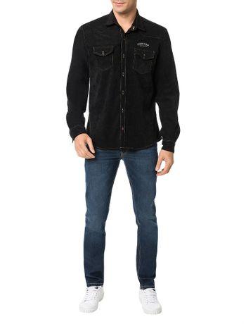 Camisa-Calvin-Klein-Jeans-Veludo-Preto