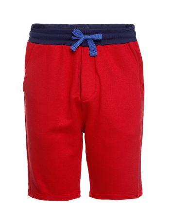 Bermuda-Moletom-Infantil-Calvin-Klein-Jeans-This-Is-My-Calvin-Vermelho