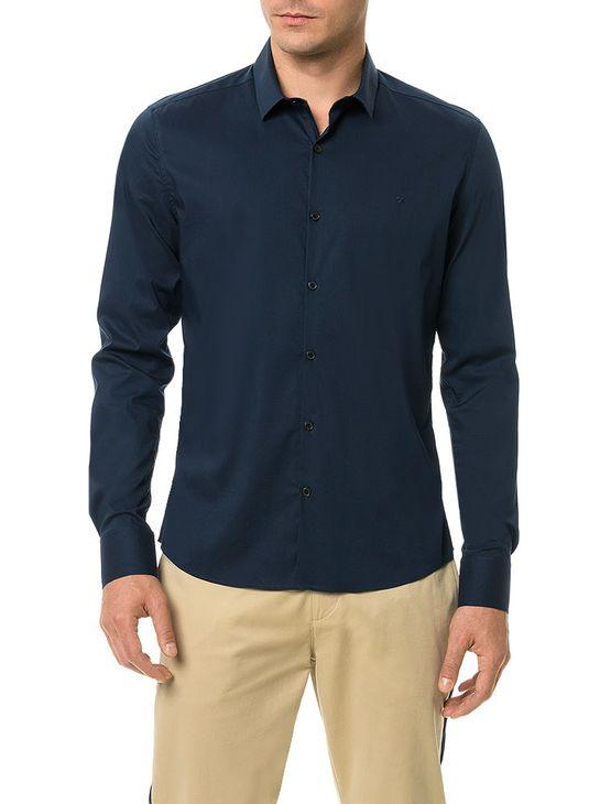 Camisa-Slim-Calvin-Klein-Cannes-Toque-Suave-Marinho