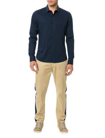 cdc0d14b21 Camisa-Slim-Calvin-Klein-Cannes-Toque-Suave-Marinho