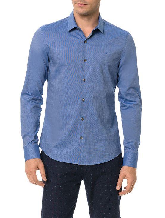 Camisa-Slim-Calvin-Klein-Cannes-Fil-a-Fil-Azul-Medio