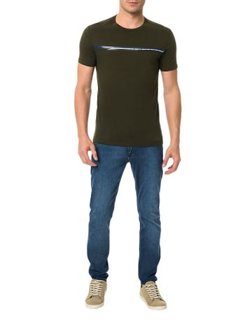 Camiseta-Slim-Calvin-Klein-Estampada-Stripe-Logo-Militar