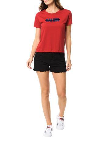 Blusa-Calvin-Klein-Jeans-Com-Estampa-Frontal-Faixa-Floco-Vermelho