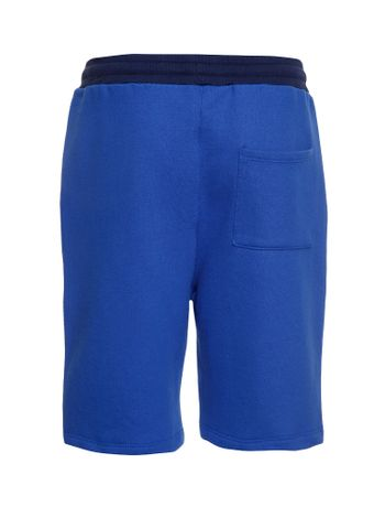 Bermuda-Moletom-Infantil-Calvin-Klein-Jeans-Logo-Baixo-Relevo-Azul-Royal