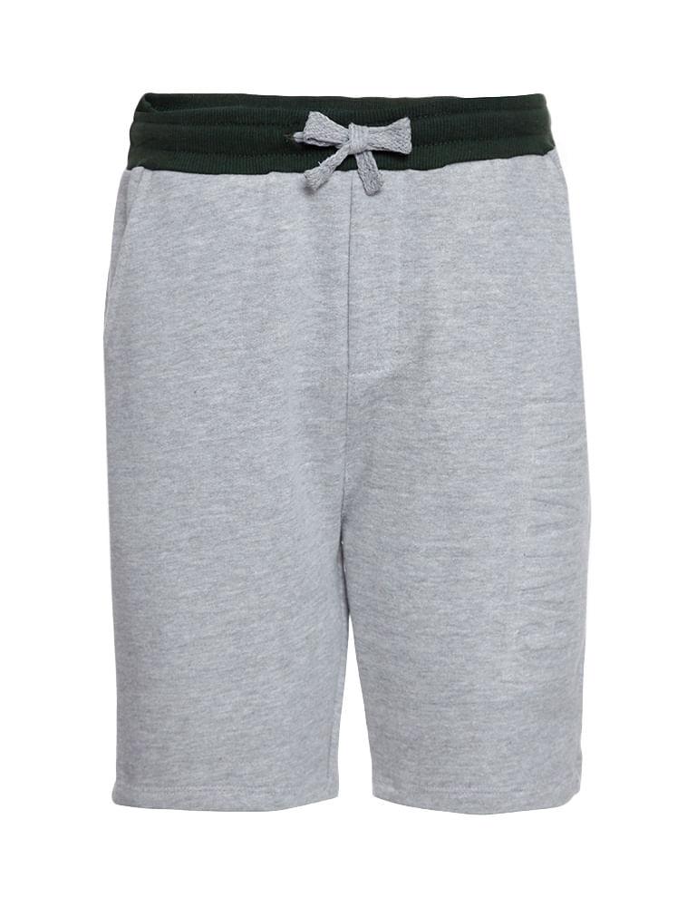 6a4fd27f105da Bermuda Moletom Infantil Calvin Klein Jeans Logo Baixo Relevo Mescla ...