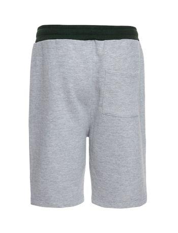 Bermuda-Moletom-Infantil-Calvin-Klein-Jeans-Logo-Baixo-Relevo-Mescla