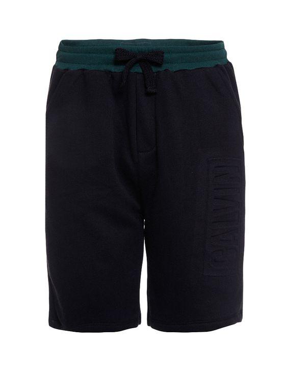 Bermuda-Moletom-Infantil-Calvin-Klein-Jeans-Logo-Baixo-Relevo-Preto