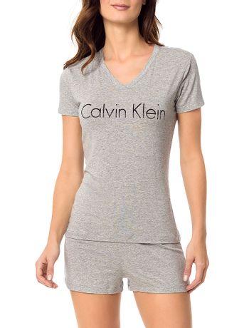 Pijama-Calvin-Klein-Underwear-Camiseta-e-Short-De-Visco-Mescla
