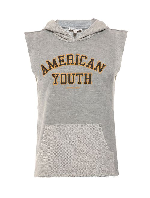 Regata Infantil Calvin Klein Jeans Com Capuz Mescla
