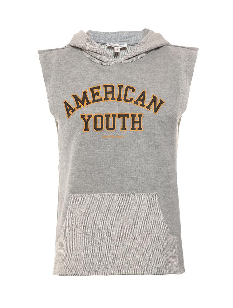 Regata Infantil Calvin Klein Jeans Com Capuz Mescla - Calvin Klein 8b0e7ec2ae0