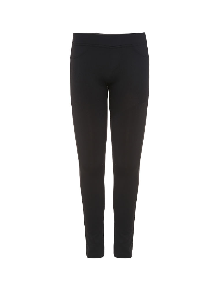 716677c11 Calça Legging Infantil Calvin Klein Jeans Silk Traseiro Preto ...