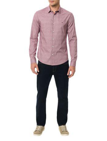 Camisa-Slim-Calvin-Klein-Cannes-Micro-Textura-Maquine-Bordo-Claro