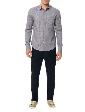 Camisa-Slim-Calvin-Klein-Cannes-Bolso-Contraste-Tecido-Preto