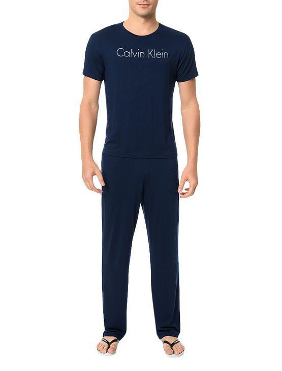 Pijama-Calvin-Klein-Underwear-Camiseta-e-Calca-De-Visco-Marinho