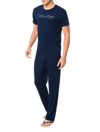 Pijama Calvin Klein Underwear Camiseta e Calça De Visco Marinho ... 96cf57a201