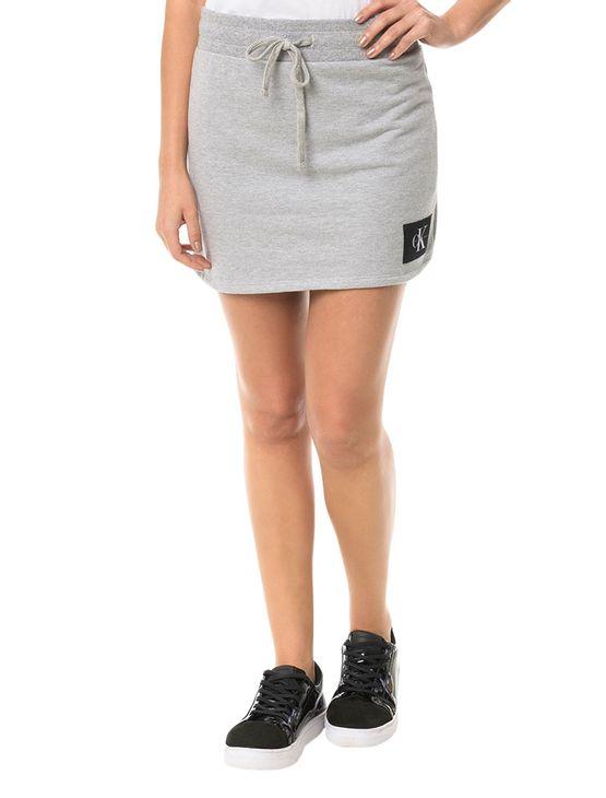Saia-Malha-Calvin-Klein-Jeans-Com-Etiqueta-Na-Barra-Mescla
