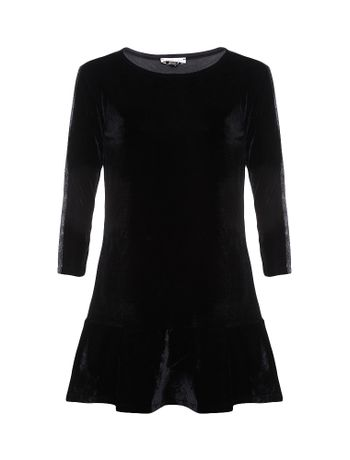 Vestido-Infantil-Calvin-Klein-Jeans-Tinta-Metalizada-Preto