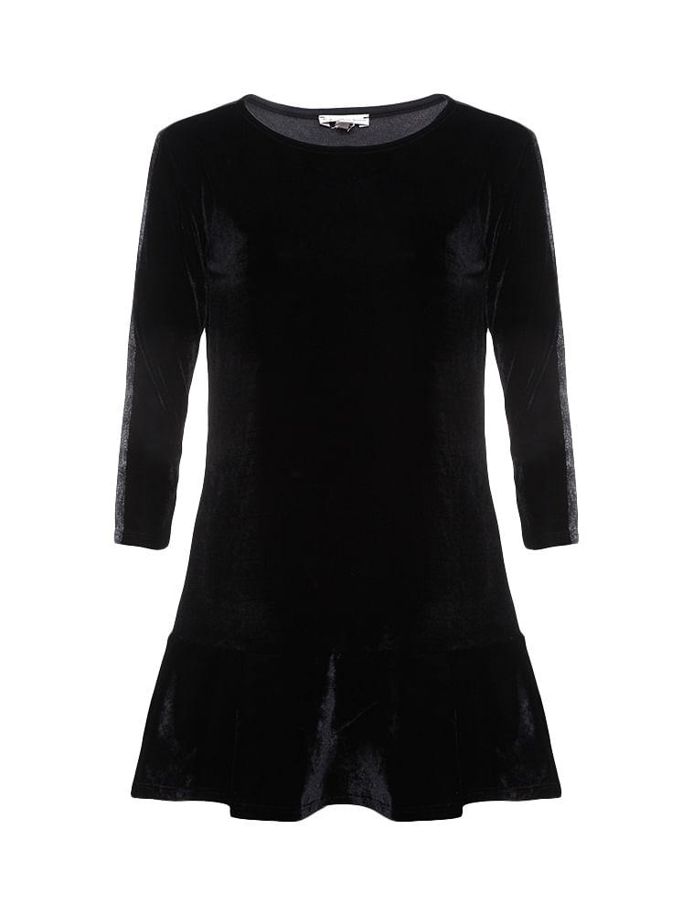 c43e7142bb61c Vestido Infantil Calvin Klein Jeans Tinta Metalizada Preto - Calvin ...