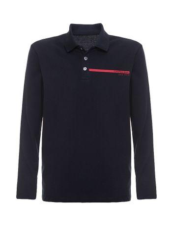 Polo-Infantil-Calvin-Klein-Jeans-Estampa-Logo-Horizontal-Marinho