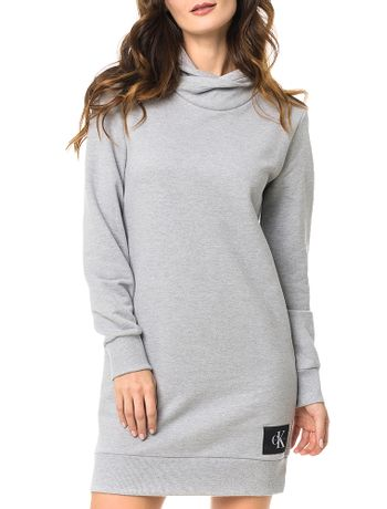 Vestido-Malha-Calvin-Klein-Jeans-Gola-Alta-Com-Etiqueta-Mescla