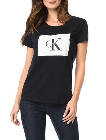 Blusa-Calvin-Klein-Jeans-Com-Etiqueta-Logo-Frontal-Preto