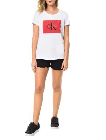 Blusa-Calvin-Klein-Jeans-Com-Etiqueta-Logo-Frontal-Branco