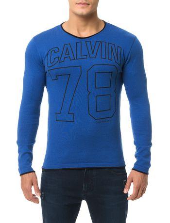 Sueter-Calvin-Klein-Jeans-Barra-Fio-Azul-Royal