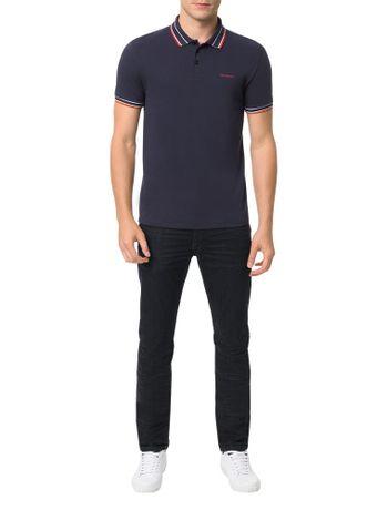 Polo-Calvin-Klein-Jeans-Estampa-Logo-Peito-Marinho