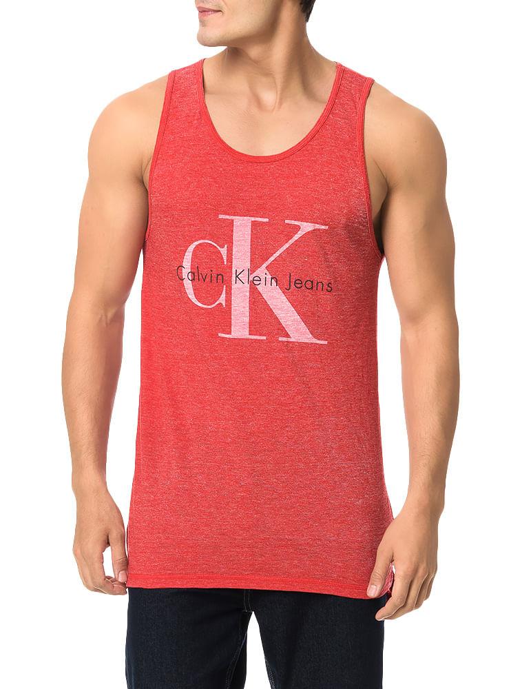 bad3b7e2aae93 Regata Calvin Klein Jeans Logo Ck Vermelho - Calvin Klein