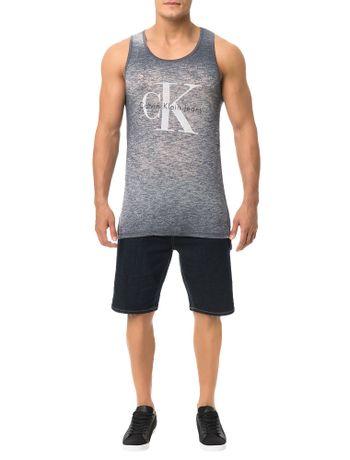Regata-Calvin-Klein-Jeans-Logo-Ck-Grafite