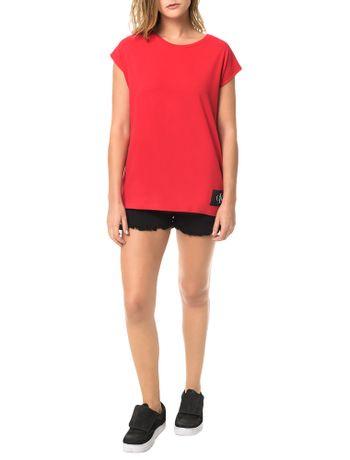 Blusa-Calvin-Klein-Jeans-Com-Etiqueta-Na-Barra-Vermelho