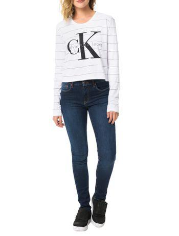 Blusa-Calvin-Klein-Jeans-Malha-Listrada-Com-Logo-Frontal-Branco