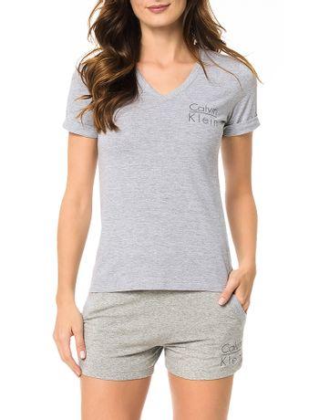 Camiseta-Calvin-Klein-Underwear-De-Meia-Malha-Mescla