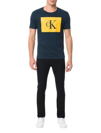 Camiseta-Calvin-Klein-Jeans-Estampa-Etiqueta-Ck-Marinho