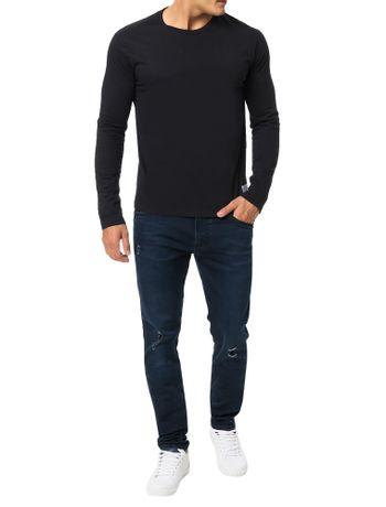 Camiseta-Calvin-Klein-Jeans-Etiqueta-CK-Preto