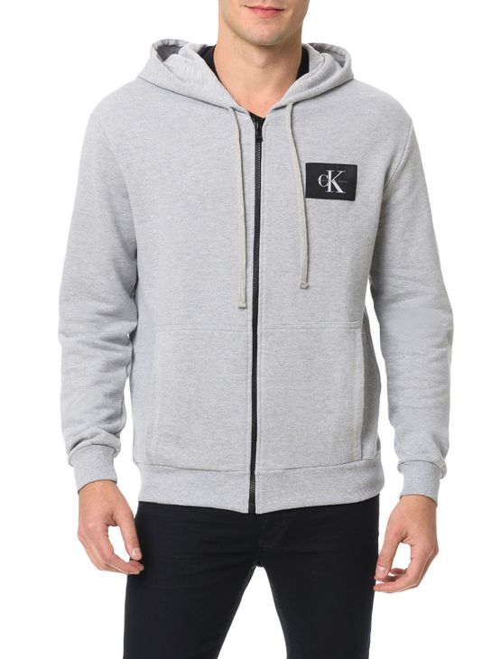 Casaco-Calvin-Klein-Jeans-Capuz-Estampa-Etiqueta-Ck-Mescla