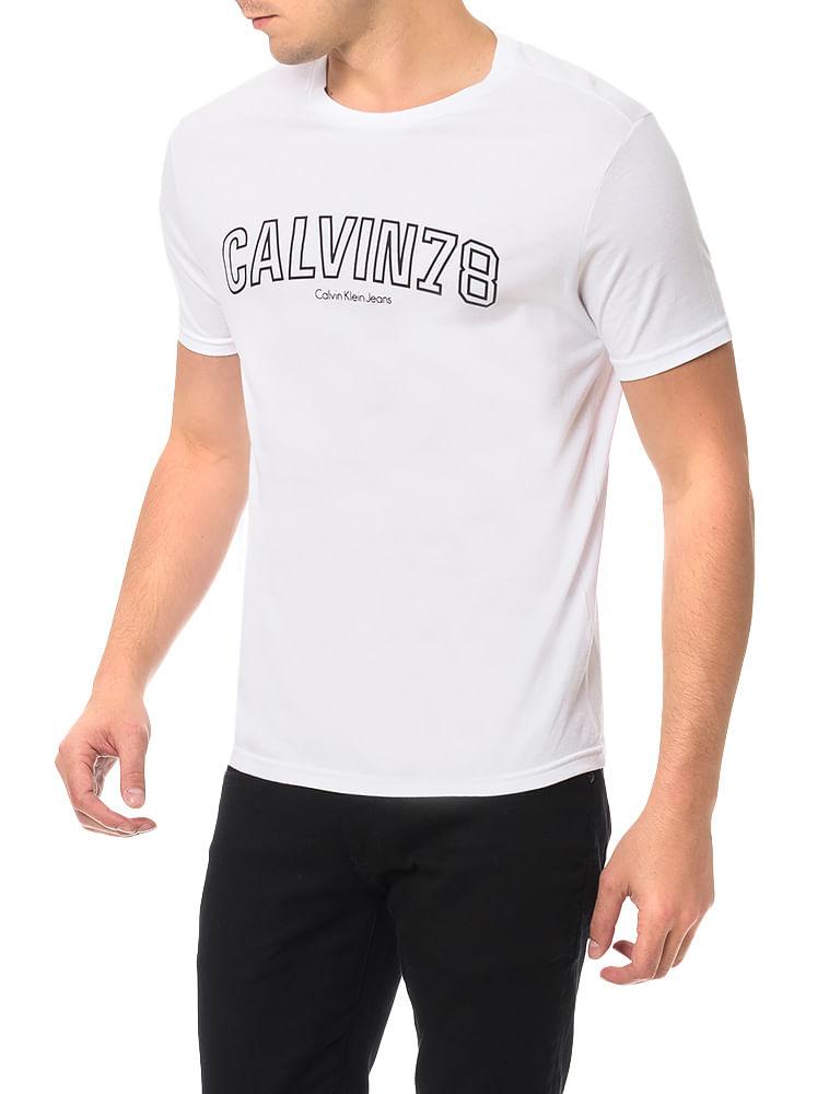 Camiseta Calvin Klein Jeans Estampa Calvin 78 Branco - Calvin Klein 0c3d5e971e90f