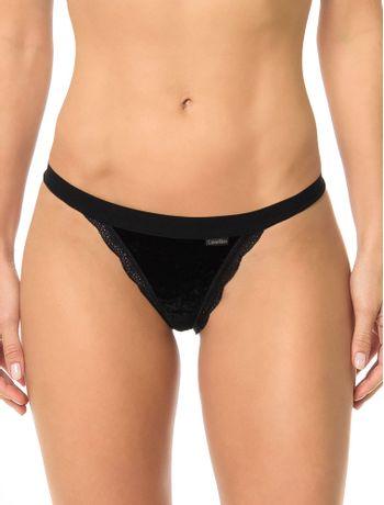 Calcinha-Tanga-Calvin-Klein-Underwear-De-Veludo-Preto