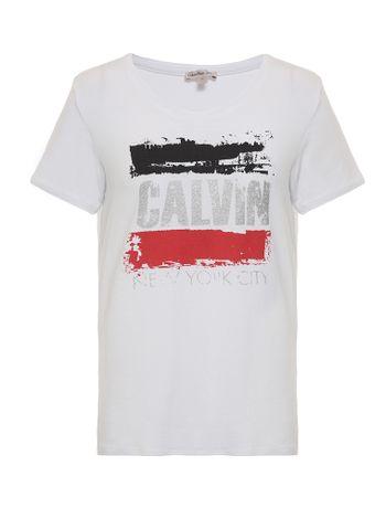 Blusa-Infantil-Calvin-Klein-Jeans-Estampa-Frontal-Com-Foil-Branco