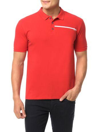 Polo-Calvin-Klein-Jeans-Logo-Palito-Vermelho