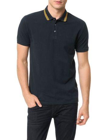Polo-Calvin-Klein-Jeans-Recortes-Ombro-e-Logo-Marinho