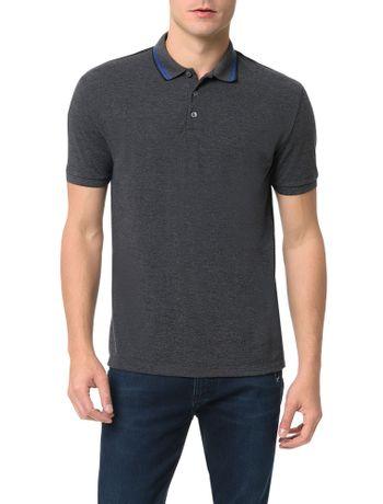 Polo-Calvin-Klein-Jeans-Recortes-Ombro-e-Logo-Mescla