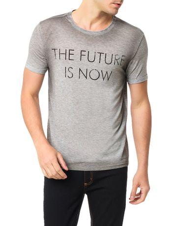 Camiseta-Calvin-Klein-Jeans-Frase-The-Future-Is-Now-Mescla